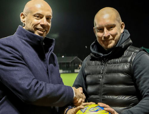 Gary Fisher from Mode Consult Ltd sponsors the match ball against Shepton Mallet