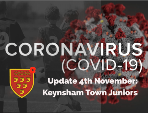 A message to Keynsham Junior players, parents and guardians.