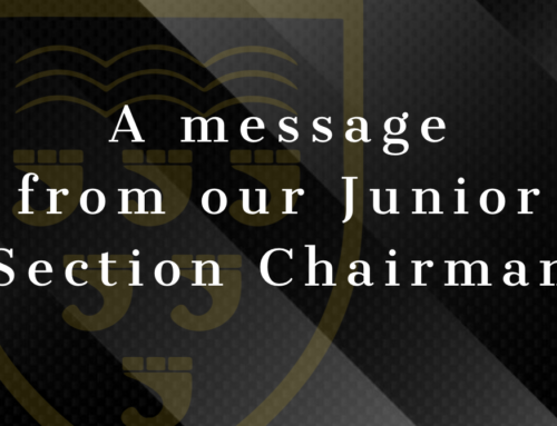 Update from our Junior Section Chairman