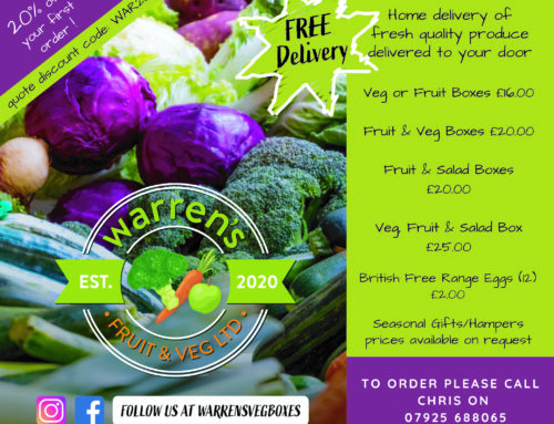 Warrens Fruit & Veg signs up as a sponsor